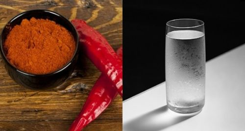 Cayenne Pepper and Glass of Water