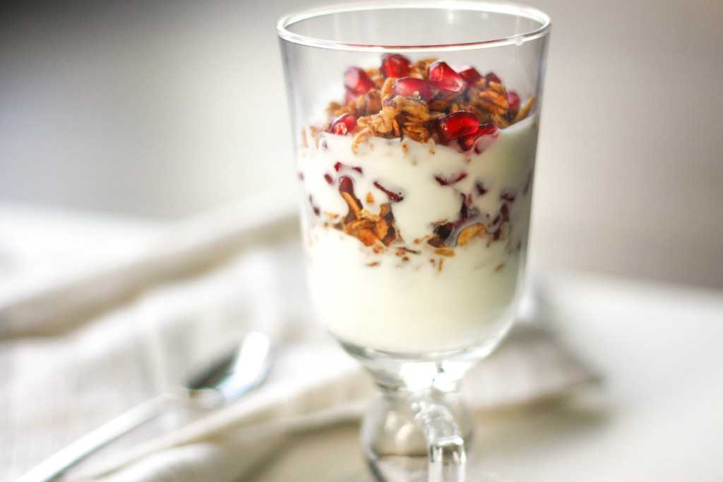 Fruit and Yogurt Parfait with Granola: Layer fresh fruits, creamy yogurt and crunchy granola for a delicious and healthy breakfast or a simple dessert   aheadofthyme.com
