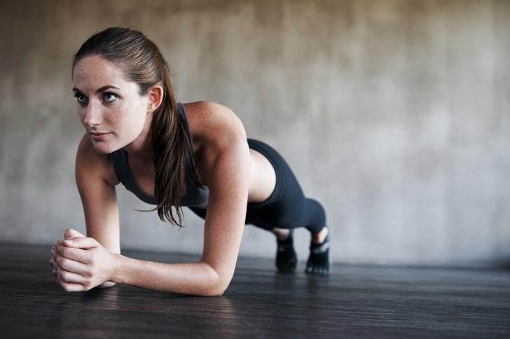 Woman doing Planks