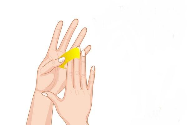 yellow nail and teeth